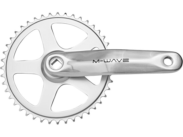 M-Wave Crankset 1-speed 44 teeth Aluminium/Steel silver